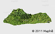 Satellite Panoramic Map of Gulin, single color outside