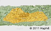 Savanna Style Panoramic Map of Gulin