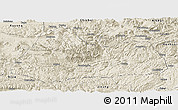 Shaded Relief Panoramic Map of Gulin