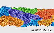 Political Panoramic Map of Hanyuan