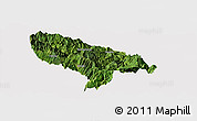Satellite Panoramic Map of Hanyuan, cropped outside