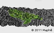 Satellite Panoramic Map of Hanyuan, desaturated