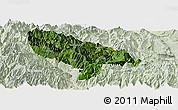 Satellite Panoramic Map of Hanyuan, lighten