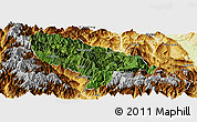 Satellite Panoramic Map of Hanyuan, physical outside