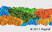 Satellite Panoramic Map of Hanyuan, political outside