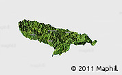 Satellite Panoramic Map of Hanyuan, single color outside