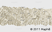 Shaded Relief Panoramic Map of Hanyuan