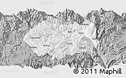 Gray Panoramic Map of Huidong