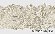 Shaded Relief Panoramic Map of Huidong