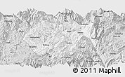 Silver Style Panoramic Map of Huidong