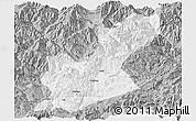 Gray Panoramic Map of Huili