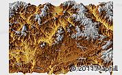 Physical Panoramic Map of Huili