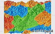 Political Panoramic Map of Huili
