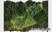 Satellite Panoramic Map of Huili, darken