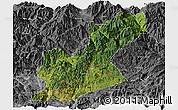 Satellite Panoramic Map of Huili, desaturated