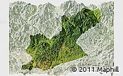 Satellite Panoramic Map of Huili, lighten