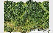 Satellite Panoramic Map of Huili