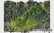 Satellite Panoramic Map of Huili, semi-desaturated