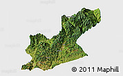 Satellite Panoramic Map of Huili, single color outside