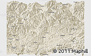 Shaded Relief Panoramic Map of Huili
