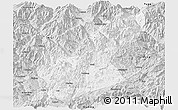 Silver Style Panoramic Map of Huili