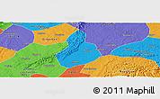 Political Panoramic Map of Jinyan