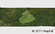 Satellite Panoramic Map of Jinyan, darken