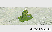 Satellite Panoramic Map of Jinyan, lighten