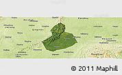 Satellite Panoramic Map of Jinyan, physical outside