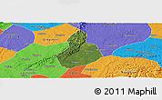 Satellite Panoramic Map of Jinyan, political outside