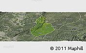 Satellite Panoramic Map of Jinyan, semi-desaturated