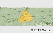 Savanna Style Panoramic Map of Jinyan