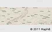 Shaded Relief Panoramic Map of Jinyan