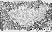Gray Panoramic Map of Jiulong