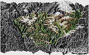 Satellite Panoramic Map of Jiulong, desaturated