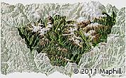 Satellite Panoramic Map of Jiulong, lighten