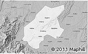 Gray 3D Map of Leshan Shi
