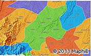 Political 3D Map of Leshan Shi