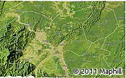 Satellite 3D Map of Leshan Shi