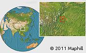 Satellite Location Map of Leshan Shi