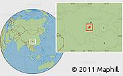Savanna Style Location Map of Leshan Shi