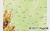 Physical Map of Leshan Shi