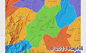 Political Map of Leshan Shi