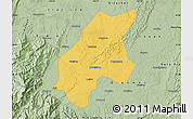 Savanna Style Map of Leshan Shi