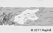 Gray Panoramic Map of Leshan Shi