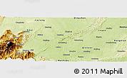 Physical Panoramic Map of Leshan Shi