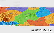 Political Panoramic Map of Leshan Shi