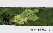 Satellite Panoramic Map of Leshan Shi, darken