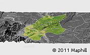 Satellite Panoramic Map of Leshan Shi, desaturated