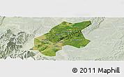 Satellite Panoramic Map of Leshan Shi, lighten